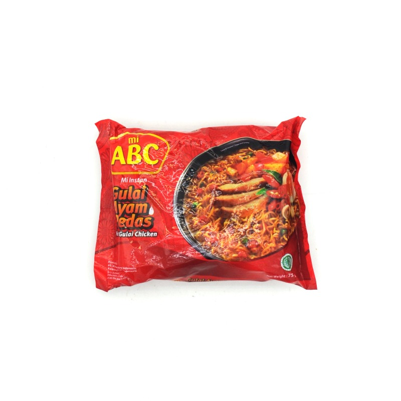 ABC-HOT GULAI CHICKEN FLAVOR NOODLES (HALAL)