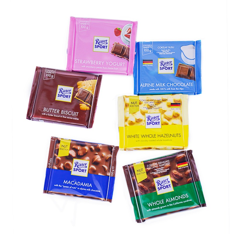 RITTERSPORT-CHOCOLATES (6 TYPES)