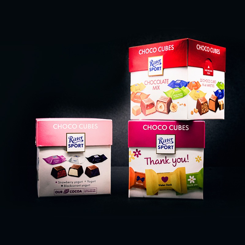 RITTERSPORT-CHOCO CUBES CHOCOLATES (3 TYPES)