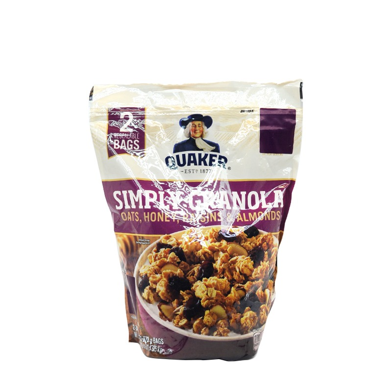 QUAKER-SIMPLY GRANOLA OATS, HONEY RAISIN & ALMONDS CEREAL